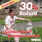 Mega Rabatt auf Gartenmöbel & Accessoires