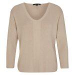 Comma Feinstrick-Pullover beige