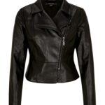 Comma Fake-Leather-Jacket schwarz