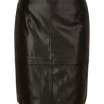 Comma Fake-Leather-Rock schwarz
